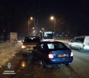 У Тернополі дуже п'яний водій спричинив аварію (фото)