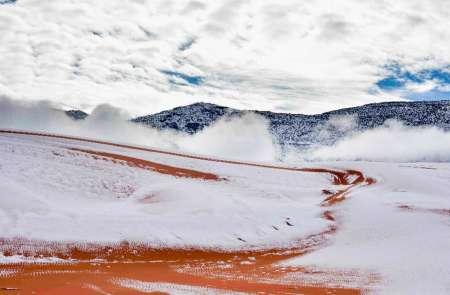 В Сахаре второй год подряд выпал снег. ФОТО