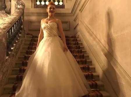 Свадебное платье Марины Анисиной вызвало бурю эмоций в Сети