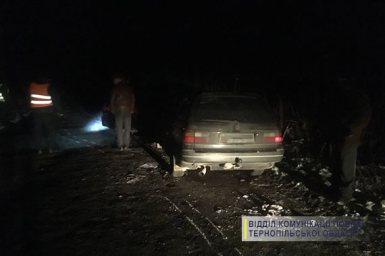 Через негоду на Тернопільщині сталася аварія (фото)