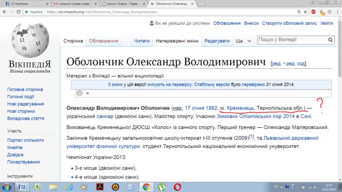 Вікіпедія шокувала тернополян (фото)