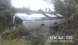 На Тернопільщині амністували водія, через якого перекинувся автобус з пасажирами (фото, відео)