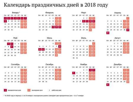 Выходные и праздничные дни в России в 2018 году: как отдыхаем в мае, календарь выходных