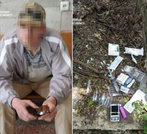 Наркомани у Тернополі: на землі сидів чоловік з шприцами (ФОТО)