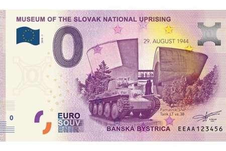 В Словакии ко Дню Победы выпусти сувенирную банкноту номиналом 0 евро