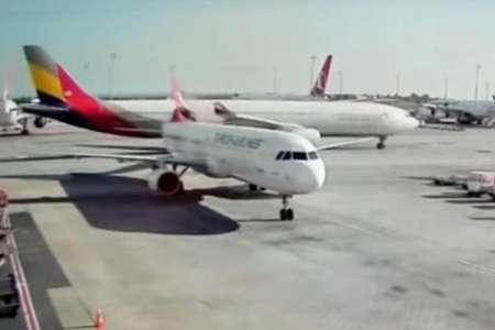 Южнокорейский и турецкий пассажирские самолеты столкнулись в аэропорту Стамбула. ВИДЕО