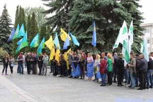 У Тернополі відбувся мітинг на підтримку виборчої реформи