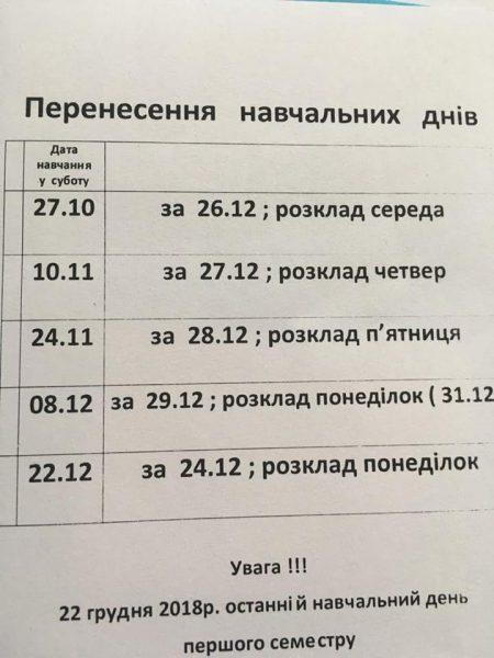 У Тернополі діти ходитимуть у школи по суботах