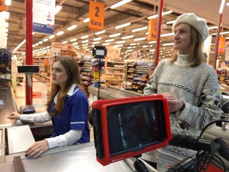 У Тернополі в супермаркеті знімають фільм