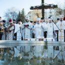Митрополит Василій освятив воду у Тернопільському ставі