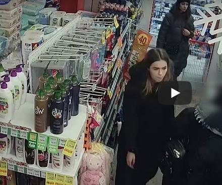 У Тернополі в магазині зганьбилися дві дівчини (ВІДЕО)