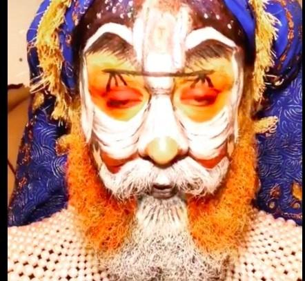 Американський блогер намалював на своєму обличчі картину митця бережанця (ФОТО, ВІДЕО)