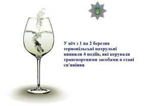 За ніч тернопільські патрульні спіймали п'яними за кермом 4 тернополян