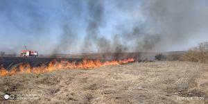 Врятували жінку, яка опинилася в епіцентрі загоряння сухої трави
