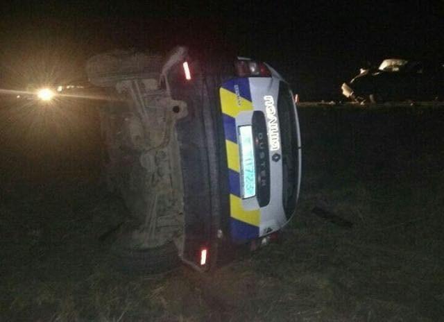 З'явилося відео жахливої аварії за участі поліцейського автомобіля (ВІДЕО)