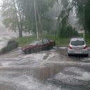 Сильна злива з градом затопила Збараж (ФОТО, ВІДЕО)