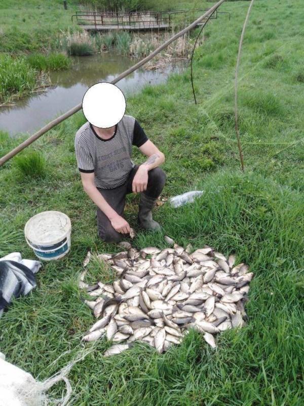 Грубе порушення правил рибальства на Тернопільщині: чоловік наловив понад 20 кг карасів (ФОТО)