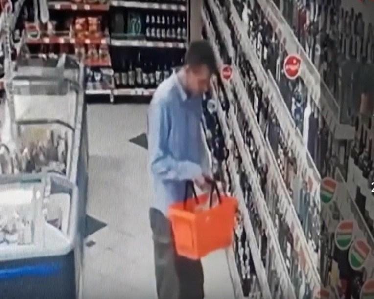 У Тернополі розшукують чоловіка, який накриміналив у магазині (ВІДЕО)
