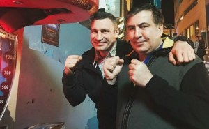 Ще один політичний кульбіт: партія Кличка піде на вибори з Саакашвілі