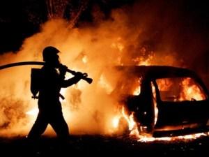 На дорозі у Тернополі виникла  серйозна  пожежа (ВІДЕО)