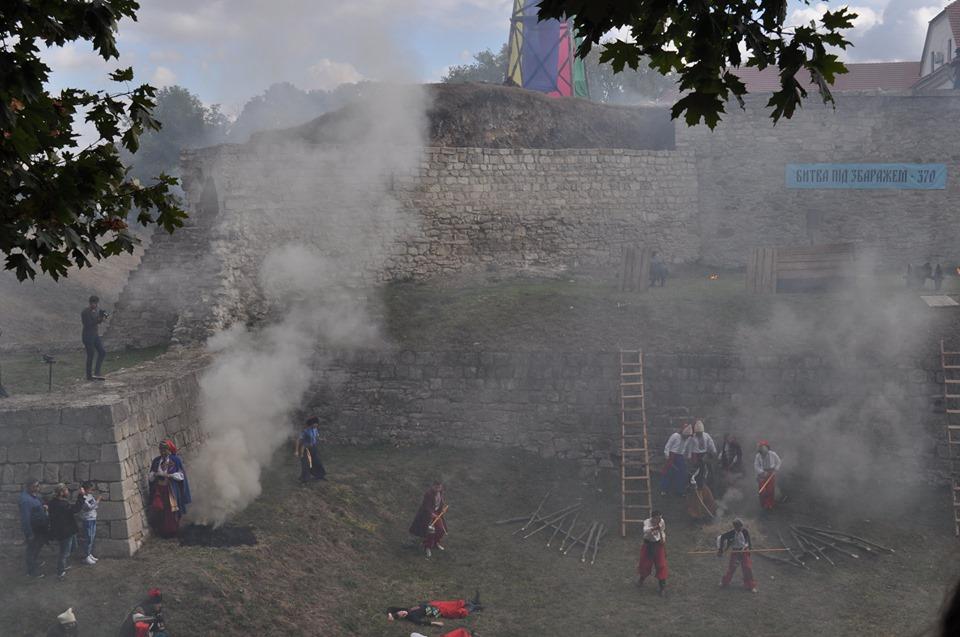 У Збаражі було гаряче: відтворили події 370-річної давнини (ФОТО, ВІДЕО)