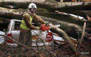У центральній та східній Європі вирують руйнівної сили урагани (ФОТО)