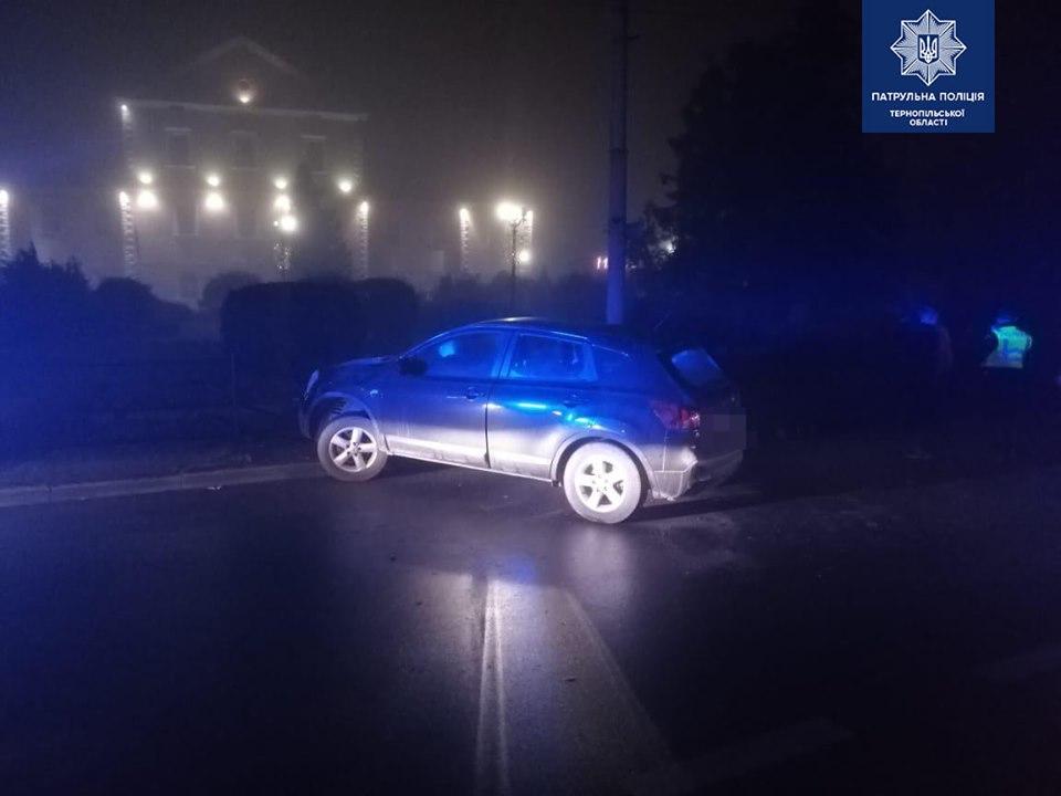 У Тернополі серед ночі п'яний водій в'їхав в огорожу (ФОТО)