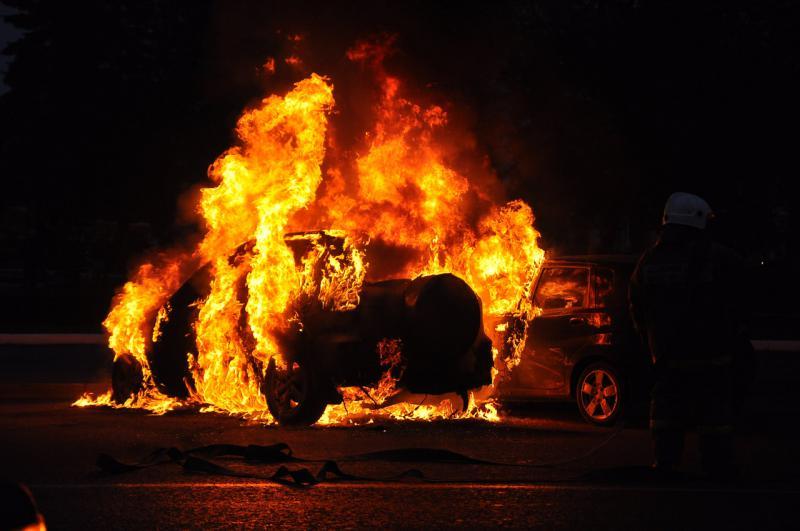 На Тернопільщині горіли автомобілі