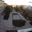 Як виглядає з висоти оновлена площа з фонтанами в центрі Тернополя (ФОТО)