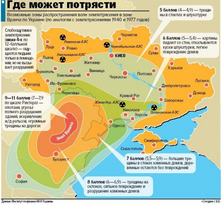 Українців закликають готуватися до потужного землетрусу (КАРТА)