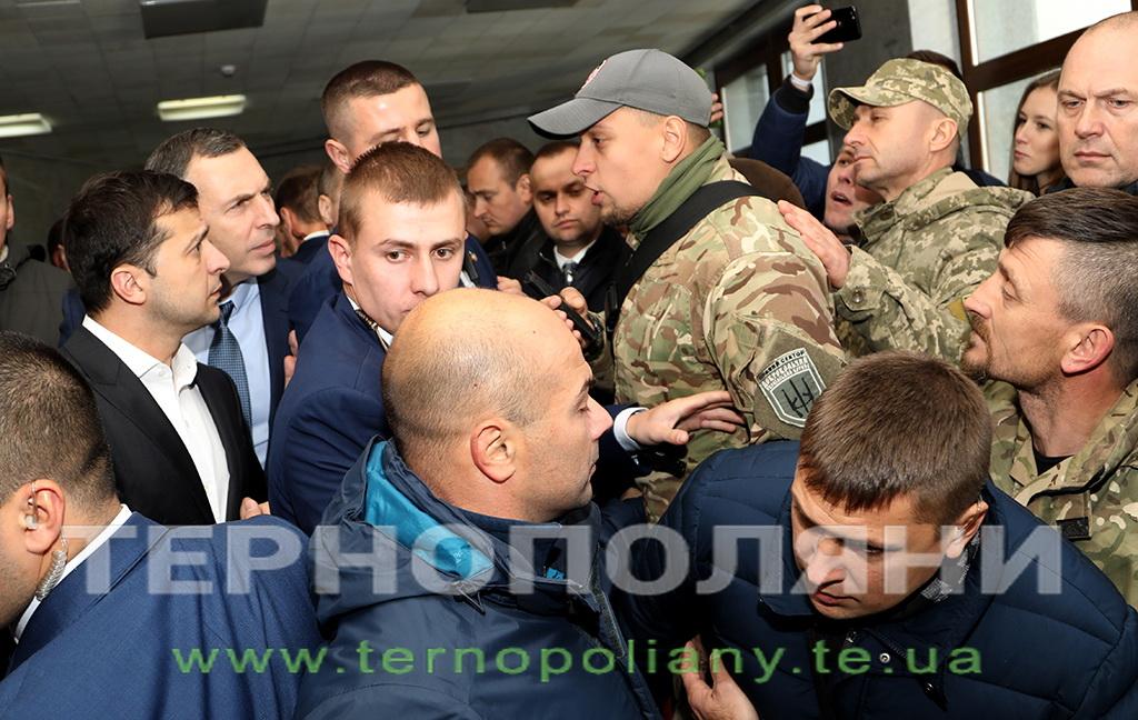 Як у Тернополі зустрічали президента Зеленського (ФОТО, ВІДЕО)