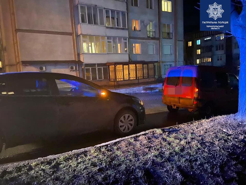 У Тернополі п'яний водій втік з місця ДТП (ФОТО)