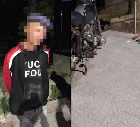 У Тернополі вночі п'яний чоловік тягнув по дорозі чужий мотоцикл (ФОТО)