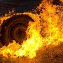 У Тернополі загорівся автомобіль Opel Kadett