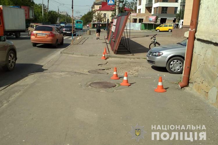 ДТП у Тернополі: велосипедист не розминувся з автівкою (ФОТО)