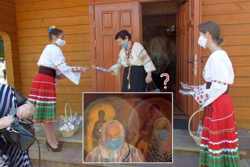 Оптичне явище чи диво: у Тернополі над головами вірян фотограф зафіксував німб (ФОТОФАКТ)