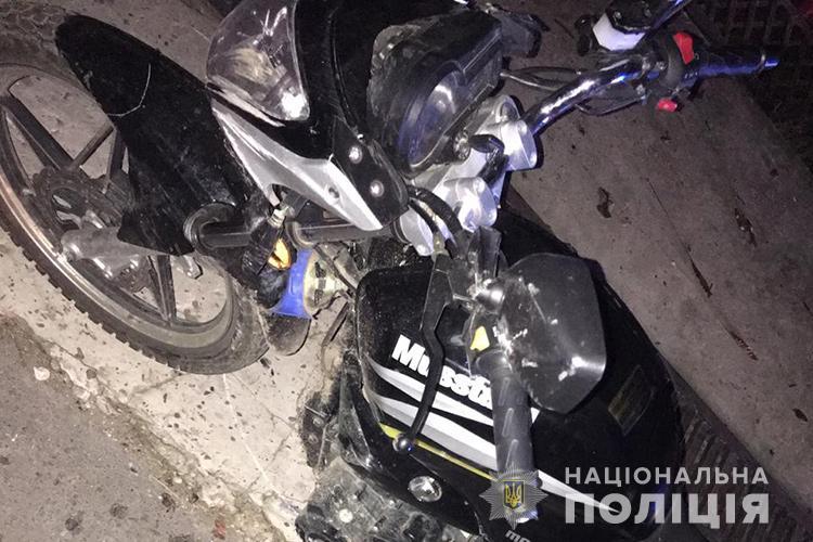 На Тернопільщині мотоцикліст збив дитину і втік з місця ДТП (ФОТО)