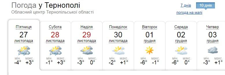 """""""Починається справжня зима"""": рятувальники попереджають, що на Тернопільщину йде сніг"""