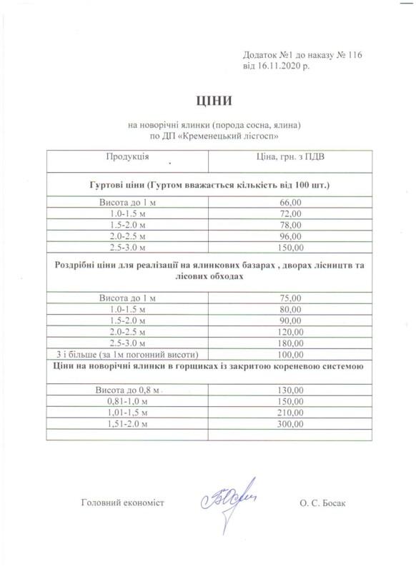 За якою ціною продає новорічні ялинки Кременецьке лісництво?