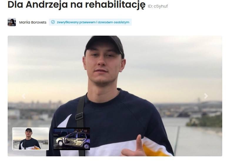 """""""2500 злотих за день у лікарні"""": у Польщі збирають гроші для молодого українця, який потрапив у ДТП"""
