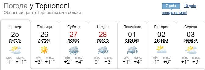 Різке потепління йде на Тернопільщину