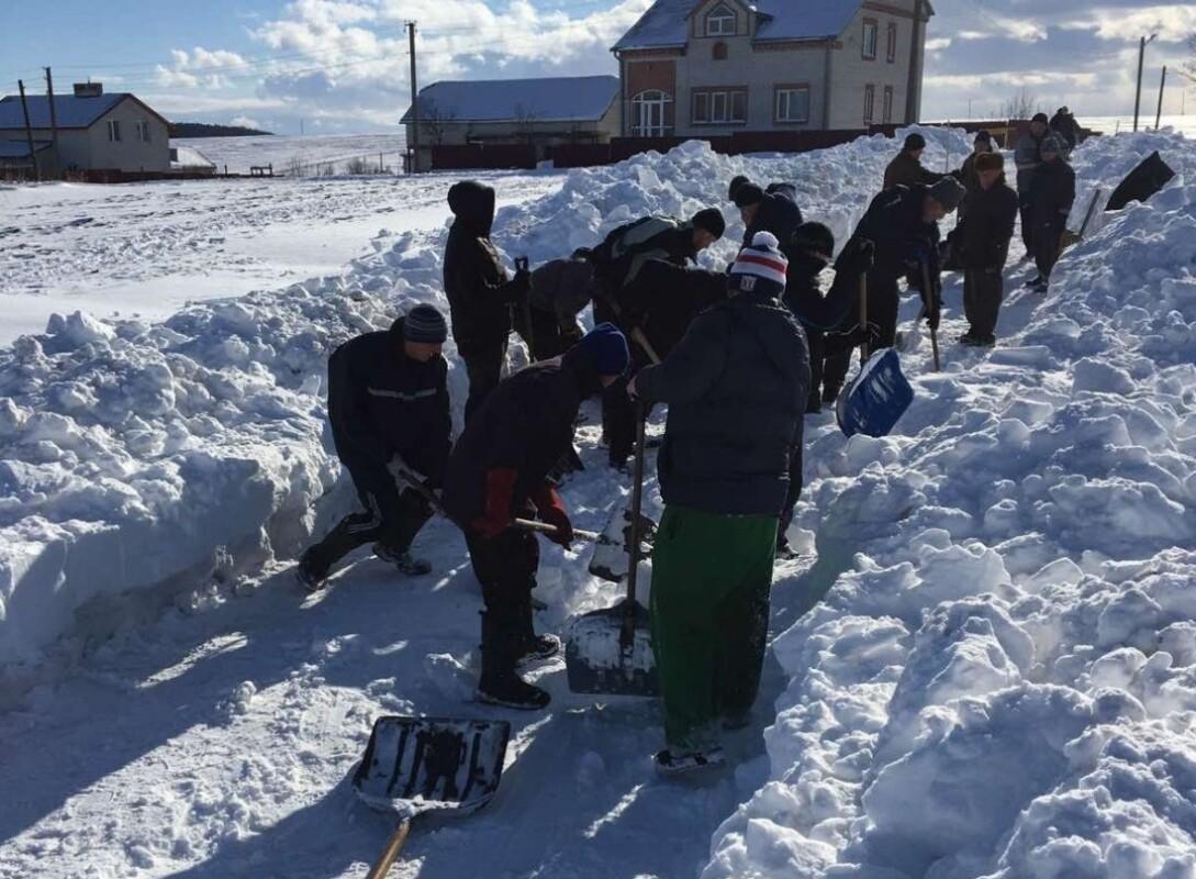 На Тернопільщині люди згуртувались та розчистили вулицю від снігу (ФОТОФАКТ)