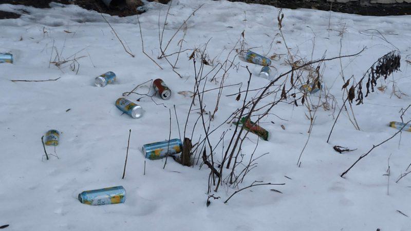 У Тернополі люди викидають пляшки з-під пива із свого вікна (ФОТО)