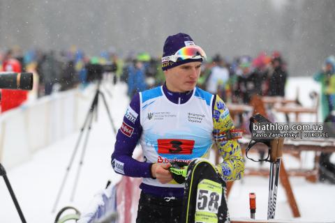 Тернопільський біатлоніст взяв участь у гонці переслідування на молодіжному чемпіонаті світу