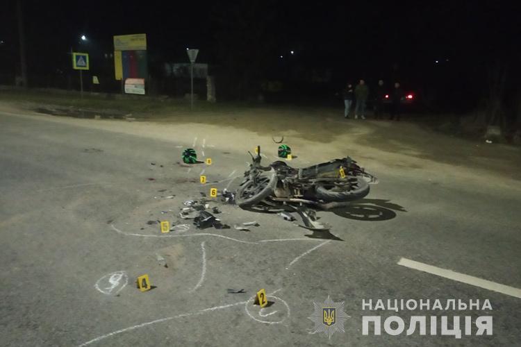 Аварія з потерпілими на Тернопільщині: зіткнулися автомобіль та мотоцикл (ФОТО)