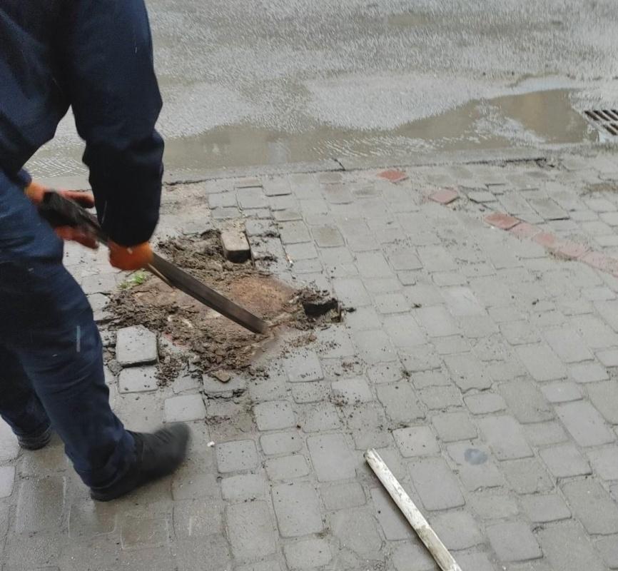 У центрі Тернополя знесли паркувальні бар'єри (ФОТО)