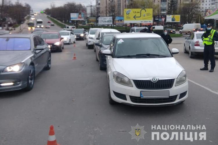 У Тернополі біля кільця зіткнулося одразу чотири автомобілі (ФОТО)