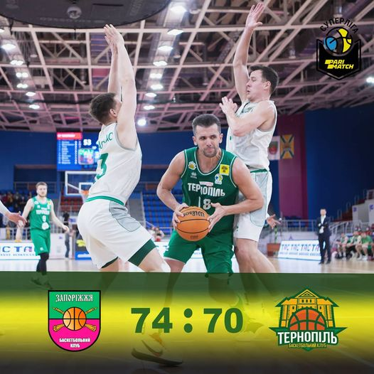 БК Тернопіль програв другий матч у Запоріжжі і поступається в серії плей-офф 0:2