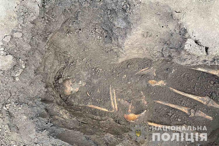 У Великих Гаях на приватному подвір'ї знайшли кістки чотирьох людей (ФОТО)