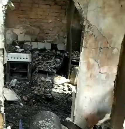 На Тернопільщині згоріла хата і троє діток залишилися на вулиці (ВІДЕО)
